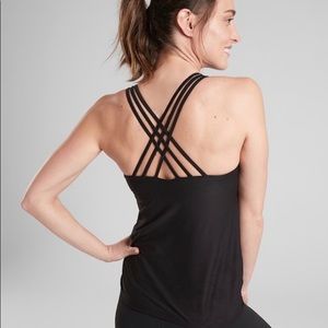 NWT Athleta Hyper Focused Support Top Black